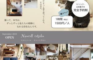 キャットサロン「猫暮らし体験」リーフレット