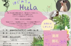 【終了】8.8→10.10 猫森ハワイアンダンス講座 はじめてのHula